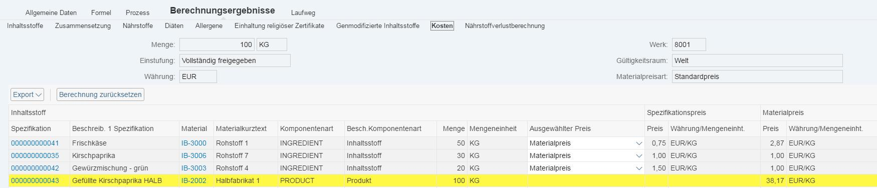 News_Screenshot_Rezepturmanagement_Kostenermittlung im Rezept