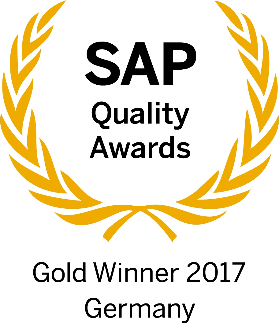 SAP QualAwGW17 Germany R - SAP S/4HANA-Projekt bei Scheurich gewinnt den SAP Quality Award in Gold