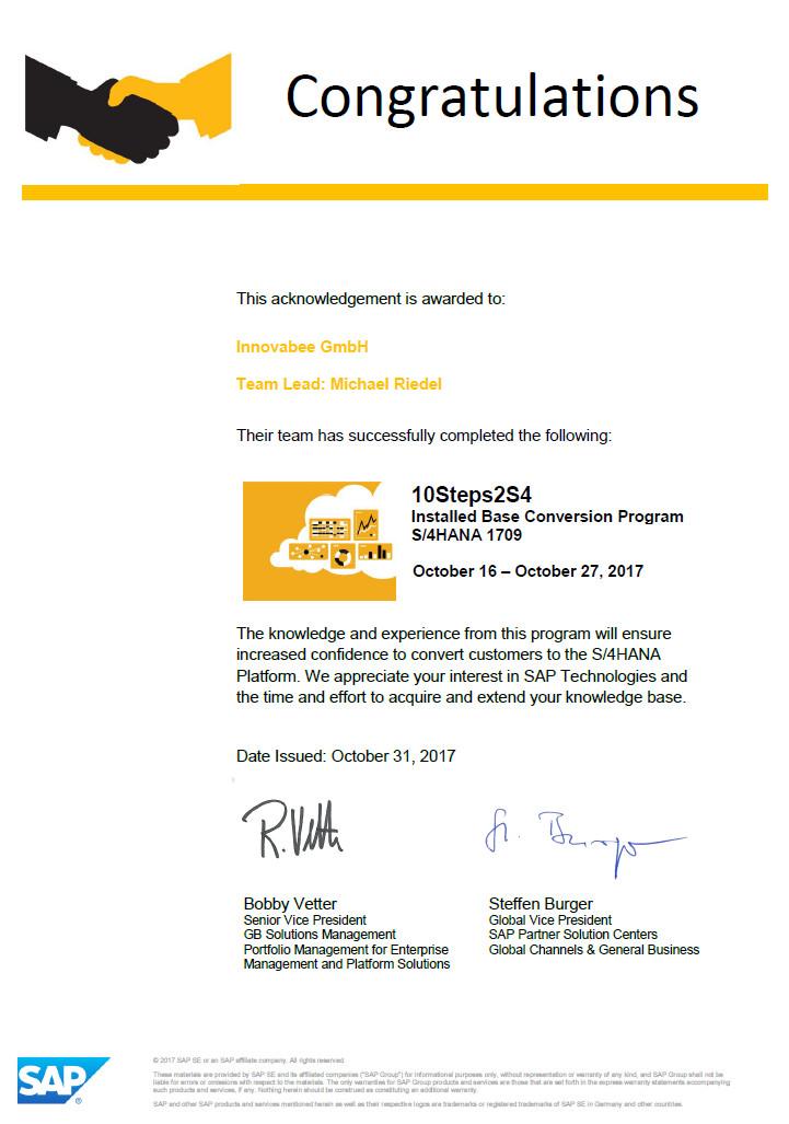 """Neuauflage der SAP S/4HANA Challenge """"10Steps2S4\"""