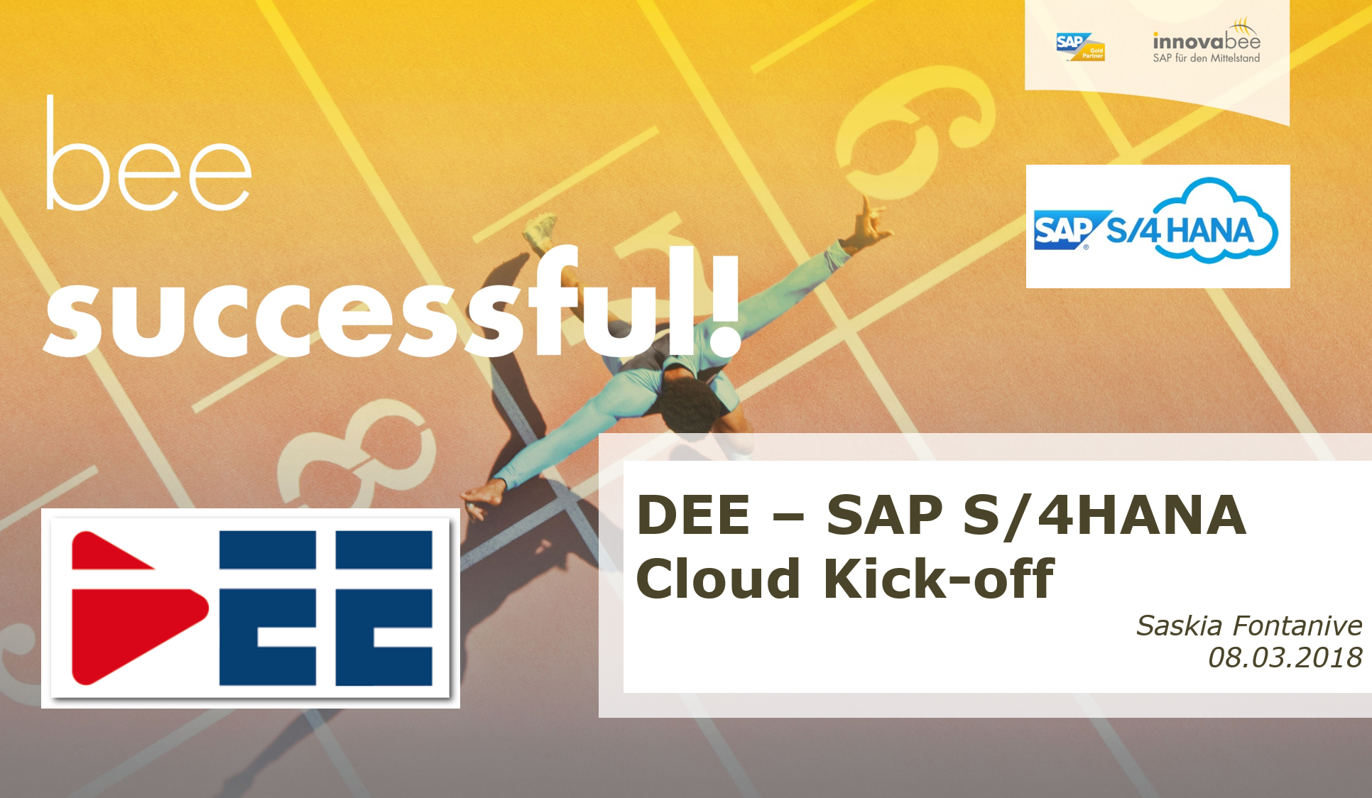 Folie 1 - SAP S/4HANA Cloud bei DEE