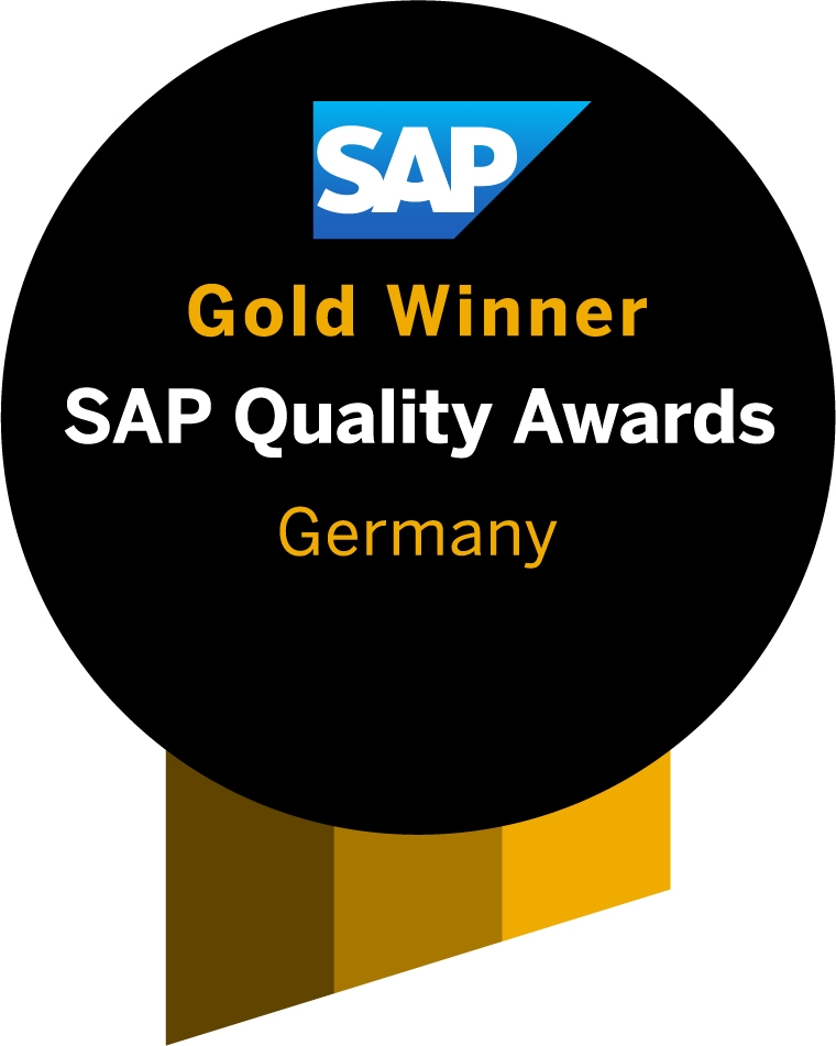 "SAP QualAwGW Germany R - ""SAP Quality Award"" in Gold für SAP S/4HANA Cloud-Projekt bei DEE"