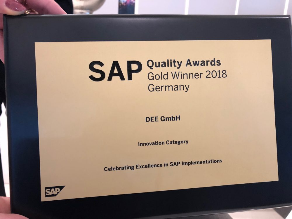 News Foto SAP Quality Award Preisverleihung 11 e1565089790462 - SAP S/4HANA Cloud bei DEE