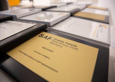 News Foto SAP Quality Award Preisverleihung 3 400x284 - Preisverleihung in Mannheim: DEE mit dem SAP Quality Award in Gold ausgezeichnet