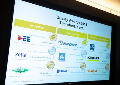 News Foto SAP Quality Award Preisverleihung 7 400x284 - Preisverleihung in Mannheim: DEE mit dem SAP Quality Award in Gold ausgezeichnet
