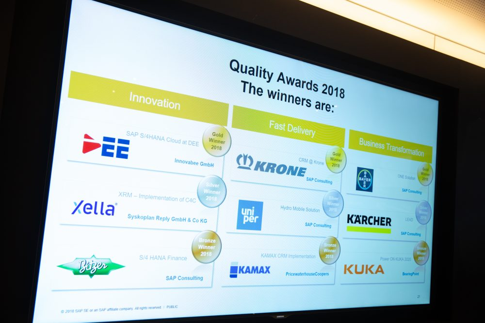 News Foto SAP Quality Award Preisverleihung 7 e1565089824457 - SAP S/4HANA Cloud bei DEE