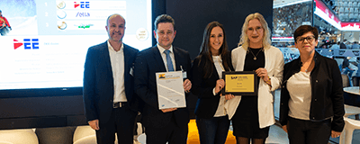 Preisverleihung in Mannheim: DEE mit dem SAP Quality Award in Gold ausgezeichnet