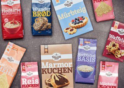 News Foto Bauck Collage Produkte 1 400x284 - Mit Herz, Mühle und SAP: Bauckhof setzt auf Innovafood