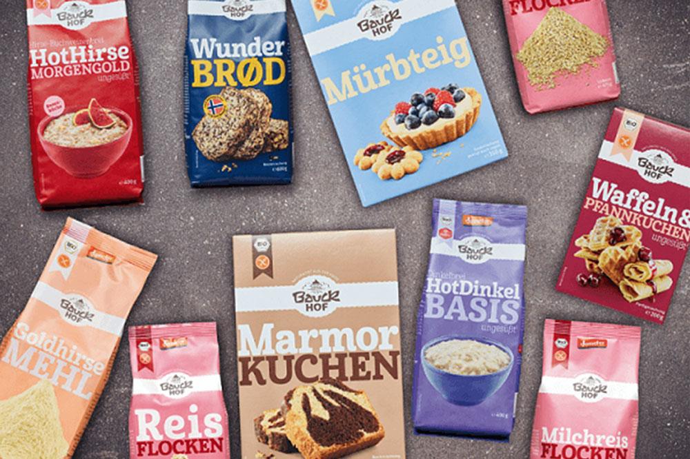 News Foto Bauck Collage Produkte 1 - Mit Herz, Mühle und SAP: Bauckhof setzt auf Innovafood