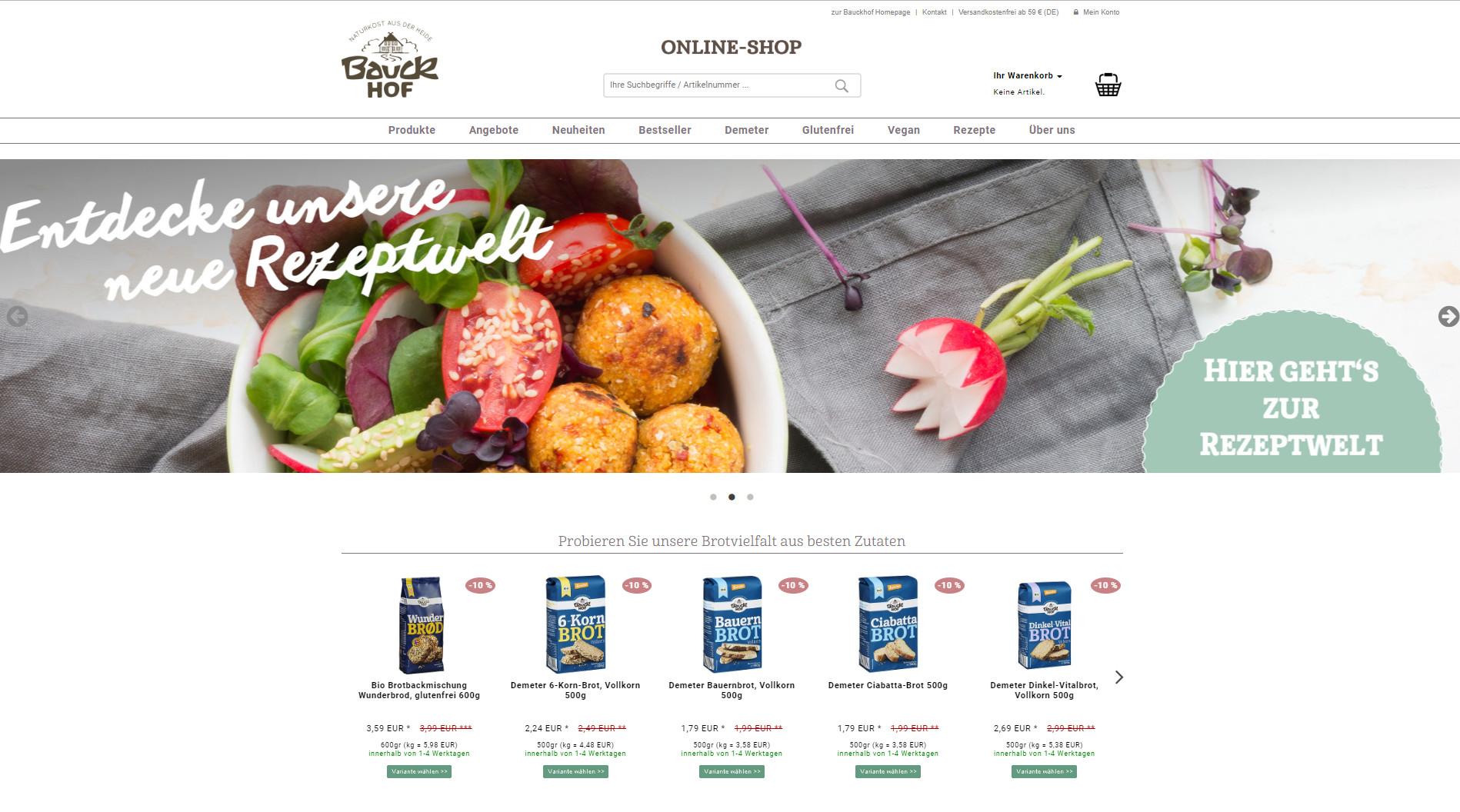 News Foto Bauck Online Shop - Mit Herz, Mühle und SAP: Bauckhof setzt auf Innovafood