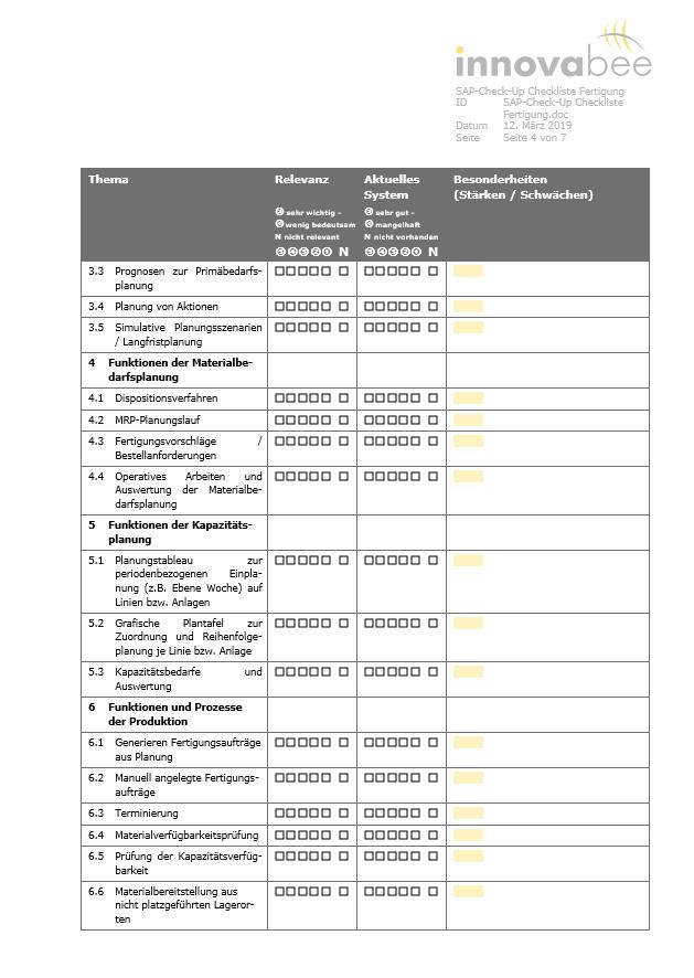 News Grafik SAP Check Up Checkliste 2 - Mehr Sicherheit bei der ERP-Auswahl – mit dem SAP-Check-Up von Innovabee