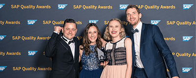 News Foto SAP Quality Award DEE Beitragsbild 2 400x160 - Innovabee-Team startet beim B2RUN in Stuttgart