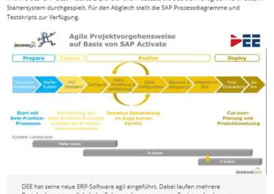 DEE Blog Screen Artikel Computerwoche 2 400x284 - SAP S/4HANA Cloud bei DEE