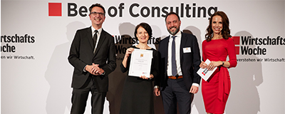 "News Foto Best of Consulting Preisverleihung Beitragsbild 400x160 - Experton SAP HANA Vendor Benchmark 2017: Innovabee zählt zu den ""Leadern"""