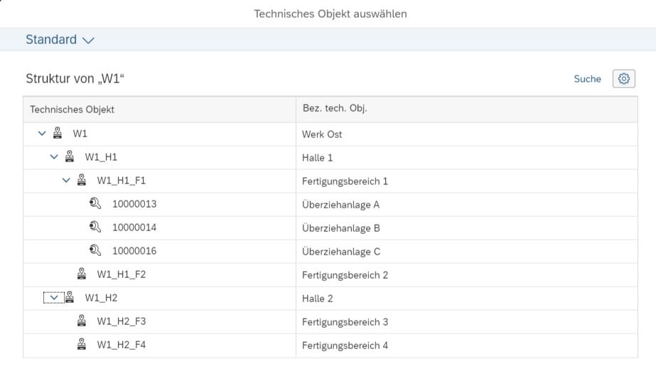 Blog Screen S4HANA Instandhaltung Anlagenstruktur 1 - Instandhaltung mit SAP S/4HANA: Alle Anlagen zentral verwalten und effizient steuern