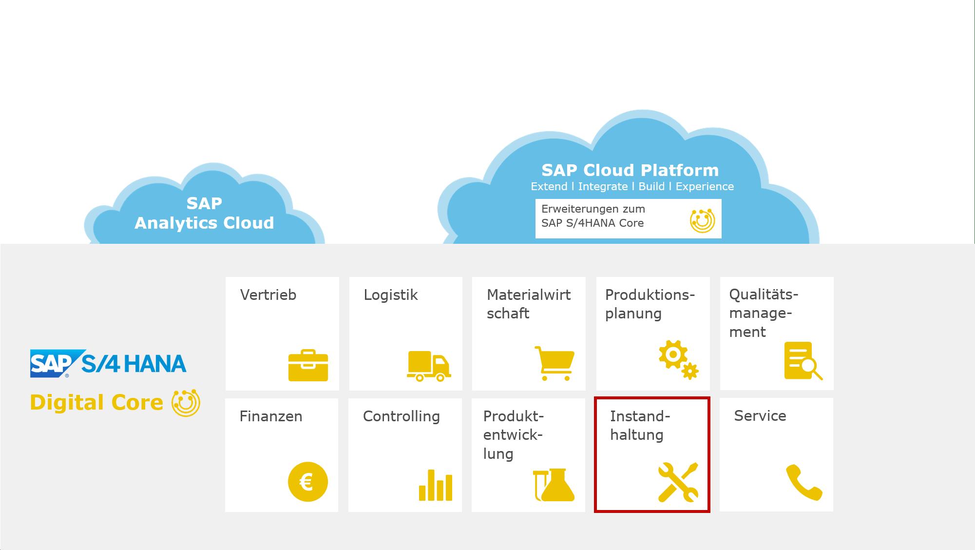 Projektumfang - Instandhaltung mit SAP S/4HANA: Alle Anlagen zentral verwalten und effizient steuern
