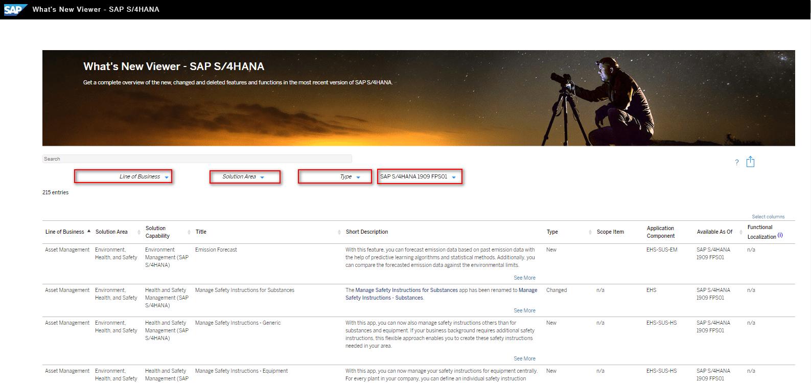 Blog Screen Whats new viewer Filter - What's new viewer: Alle neuen und geänderten Funktionen von SAP S/4HANA auf einen Blick