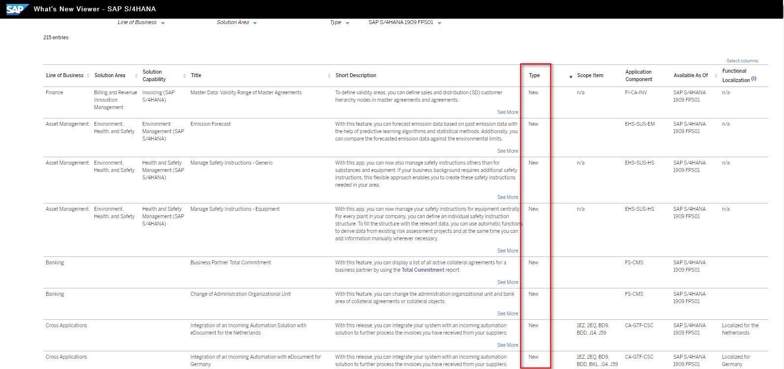 Blog Screen Whats new viewer Neue Funktionen - What's new viewer: Alle neuen und geänderten Funktionen von SAP S/4HANA auf einen Blick