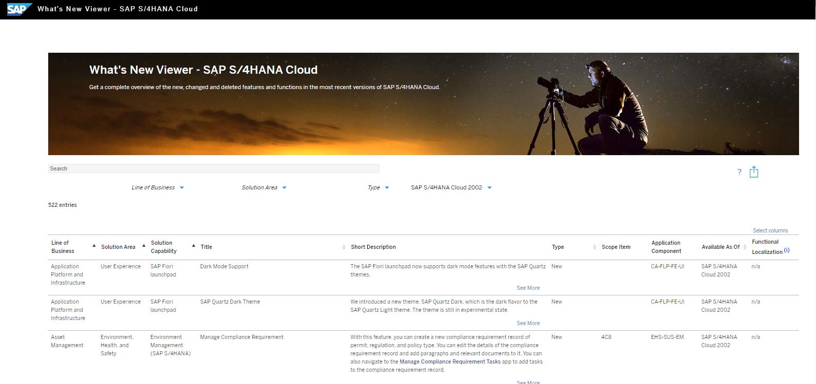 Blog Screen Whats new viewer S4HANA Cloud - What's new viewer: Alle neuen und geänderten Funktionen von SAP S/4HANA auf einen Blick