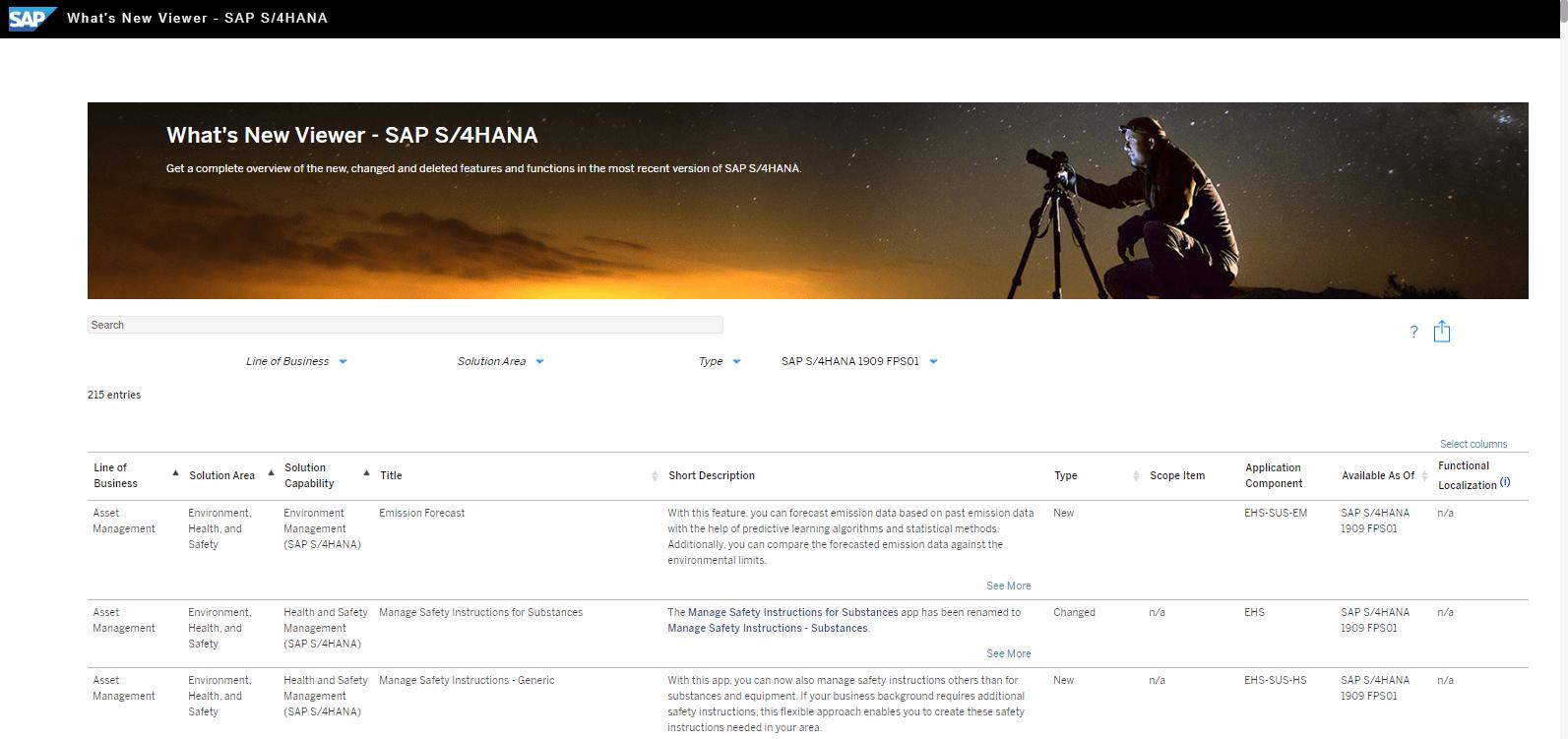 Blog Screen Whats new viewer S4HANA - What's new viewer: Alle neuen und geänderten Funktionen von SAP S/4HANA auf einen Blick