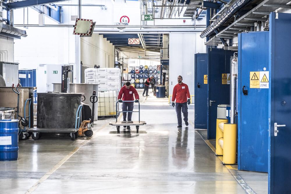 News Foto Pfinder Werkshalle - Läuft wie geschmiert: Innovachem legt die Grundlage für Internationalisierung von Pfinder