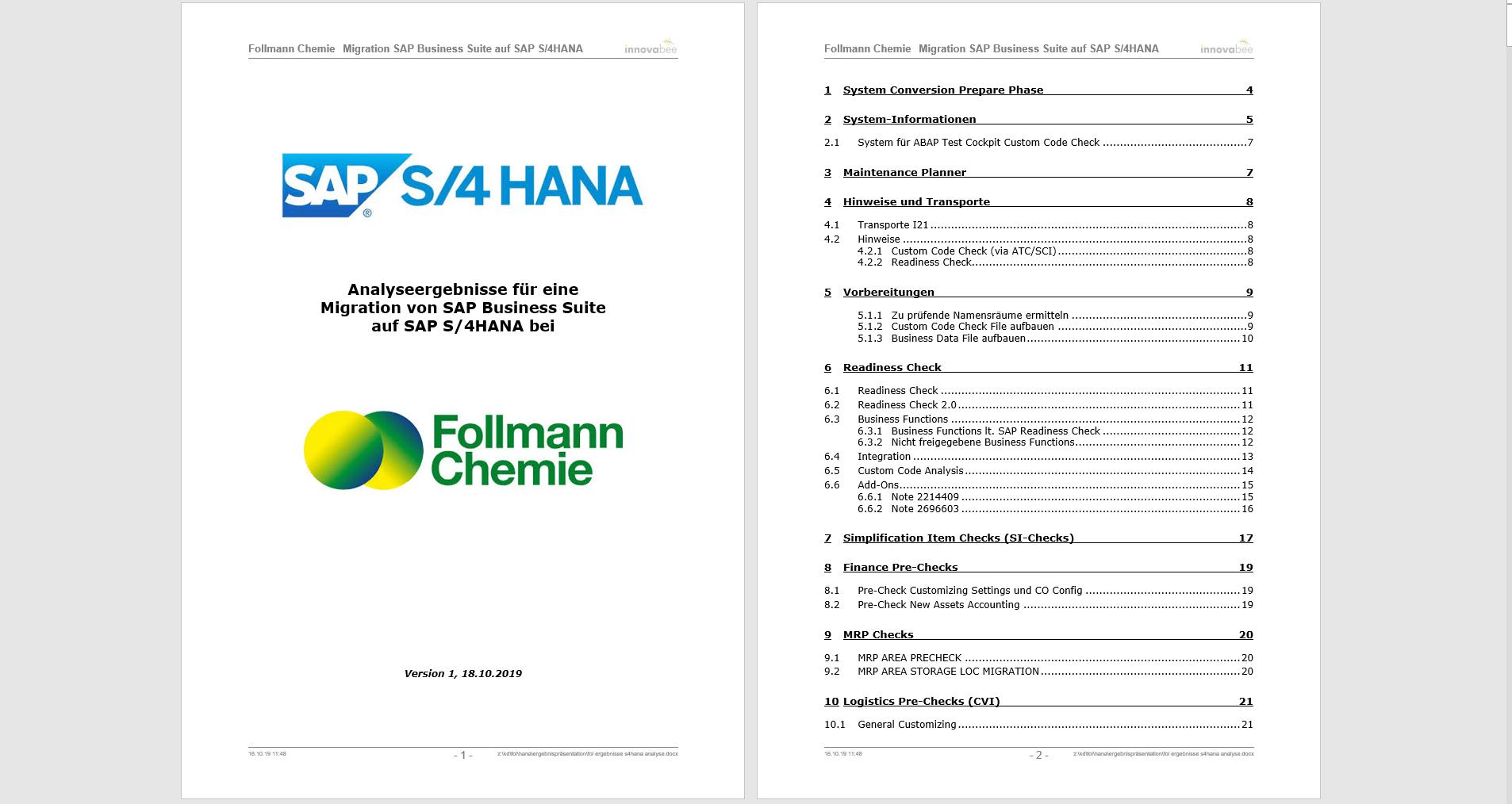 News Foto Follmann Chemie Migrationsanalyse - Migration auf SAP S/4HANA: Bei Follmann und Innovabee stimmt die Chemie