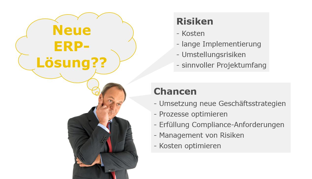 News Grafik SAP Check Up Chancen vs. Risiken - Mehr Sicherheit bei der ERP-Auswahl – mit dem SAP-Check-Up von Innovabee