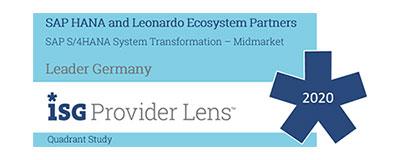auszeichnung isg provider lens - Reporting für Fortgeschrittene: SAP BusinessObjects bei LOGOCOS