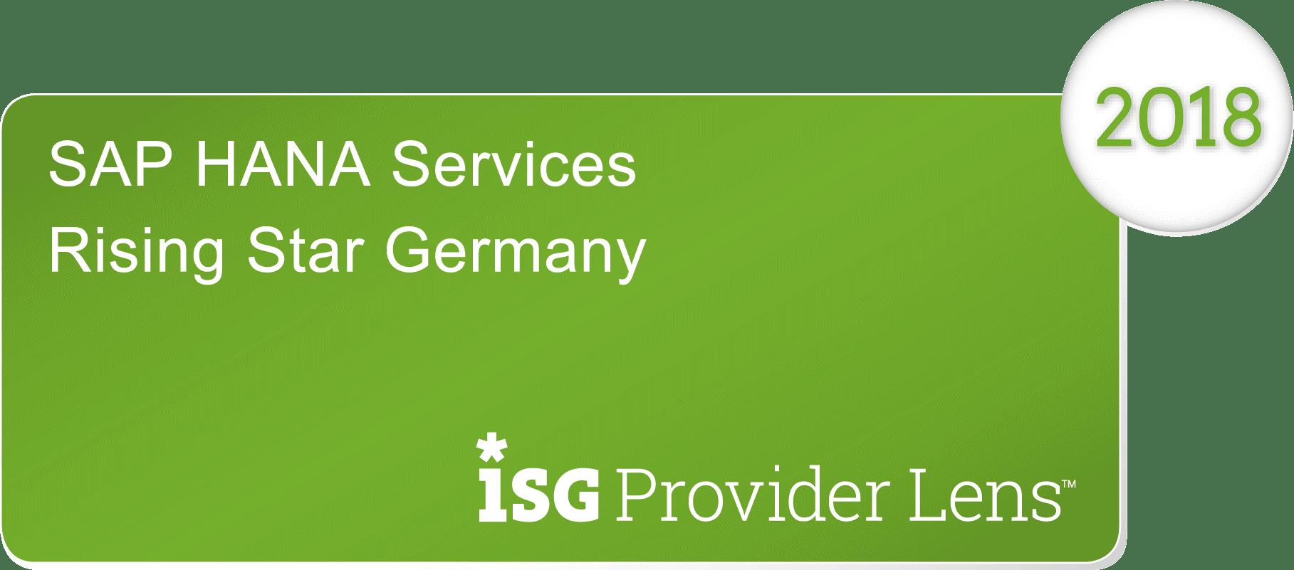 "News Grafik Batch ISG Provider Lens HANA Services 2018 - ISG Provider Lens™: Innovabee ist ""Leader"" unter den SAP S/4HANA-Anbietern"