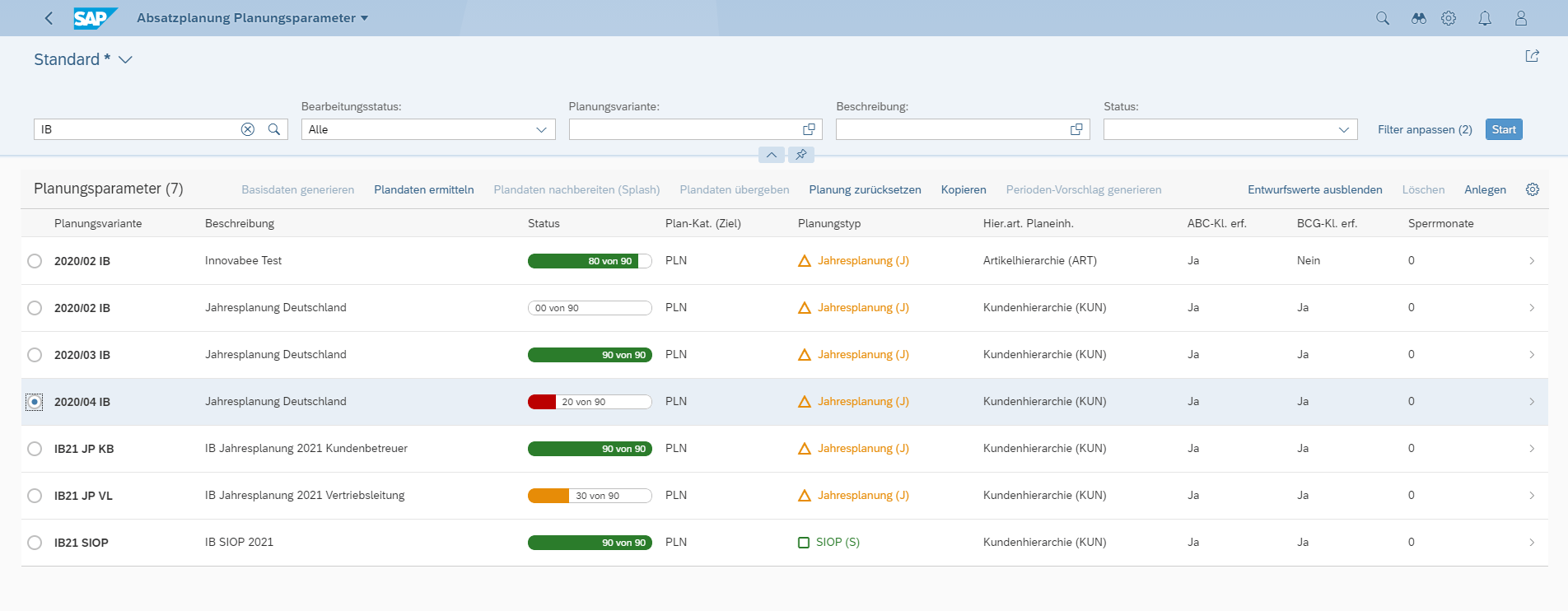 "Blog Screen Sales Planner for SAP S4HANA Planungscockpit - Integrierte Umsatz- und Absatzplanung mit dem ""Innovabee Sales Planner for SAP S/4HANA"""