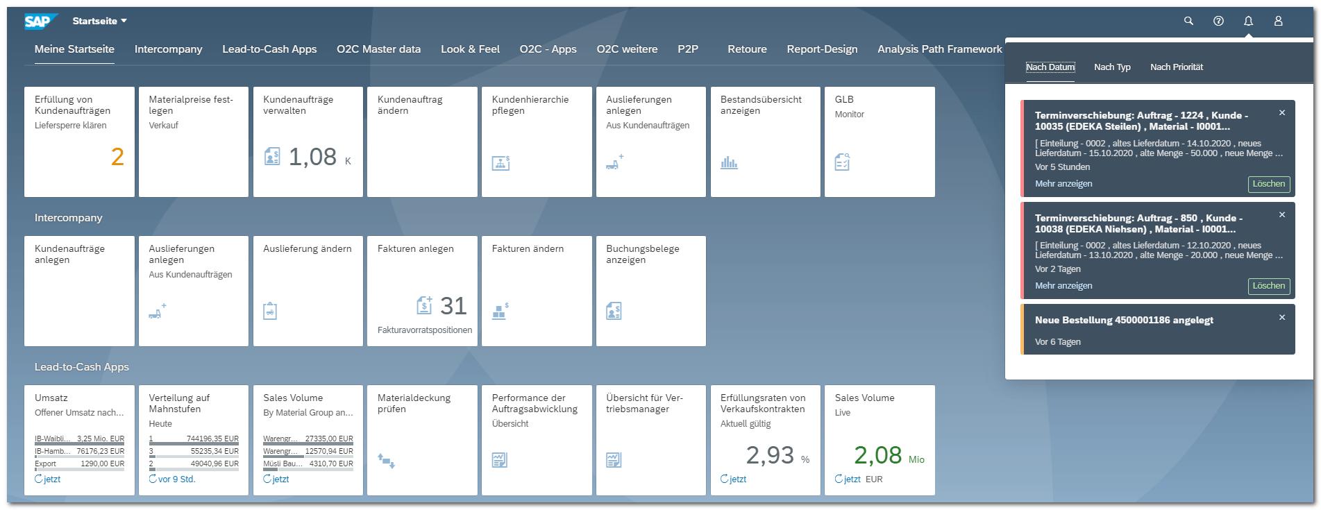 Blog Screen Sales Fiori Notifications Highlights S4HANA - Die besten Apps aus 5 Jahren SAP S/4HANA – Teil 4: Vertrieb