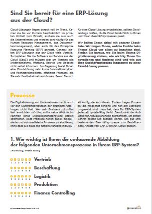 Screen Checkliste Sind Sie bereit fuer eine ERP Loesung aus der Cloud 2 - Checkliste ERP aus der Cloud - Anmeldung Online-Version