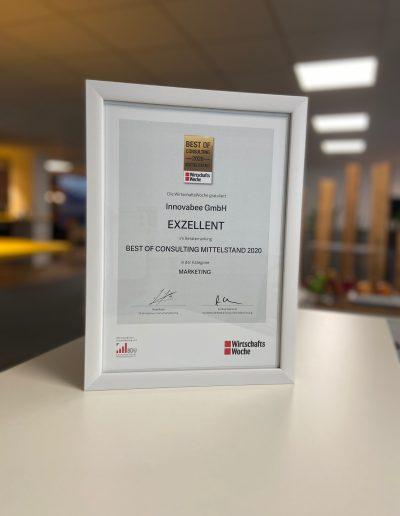 """IMG 8498 400x516 - Innovabee erhält den """"Best of Consulting"""" Award für das SAP-Projekt bei Pfinder Chemie"""